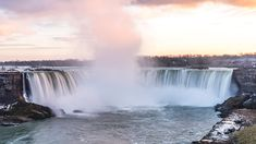 #DYK Flowing water can be used to produce hydroelectric power. This type of power is renewable. Millions of gallons pour over Niagara Falls. With a power plant downstream, it can produce enough energy to light 24 million 100-watt bulbs at once. Learn more! Geography For Kids, Hydroelectric Power, Niagara Falls, The Unit, Water, Plants, Gripe Water, Plant, Planets