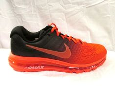 quality design 8ee96 4a804 Nike Air Max 2017 Running Shoes Mens 10.5 Bright Crimson Total Crimson Black   Nike  RunningShoes