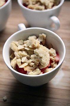 Le crumble ramène sa fraise (sans gluten, sans lait, sans oeufs) #vegetalien #vegan #vege