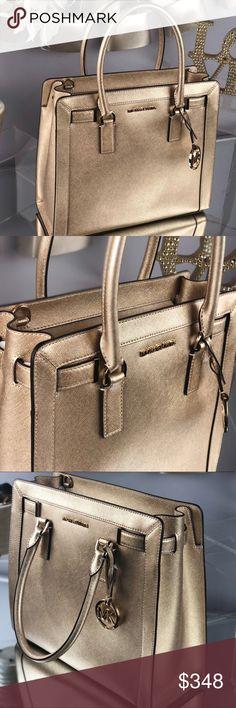 MICHAEL Michael Kors Crossbody Cynthia Small Misty Rose Leather Satchel 27% off retail