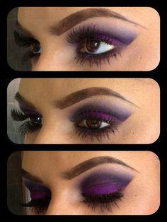 Dramatic, Purple Nighttime Look...