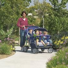 Angeles® SureStop® Folding Commercial Bye-Bye® Stroller - 4 Passenger Better weather is coming all little ones to the park