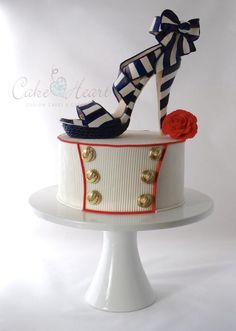 'nautical stiletto shoe' Cake Master Magazine ~Issue 21~ June 2014
