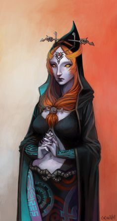 a pupil-less, alien-like midna. i thought it'd be cool to draw her this way. this was just supposed to be a quick, fun practice, but i got carried away (as usual) and ended up taking an actual month...