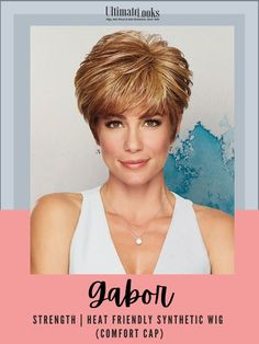 Generous length in the front and on the crown combine with all-over tapered layered to add a contemporary cadence to the traditional boy cut. #hairstyles #hairdo #hairoftheday #styleinspo #styles #styleoftheday #stylegram Gabor Wigs, Boy Cuts, Cut Hairstyles, Strawberry Blonde, Styling Tools, Synthetic Wigs, Hairline, Hair Lengths, Curls