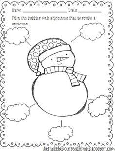 Snowman Craftivity Freebie! - Just Wild About Teaching - TeachersPayTeachers.com