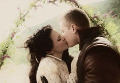 I like that they had a wedding with just the two of them and his mum, so romantic Nd sweet