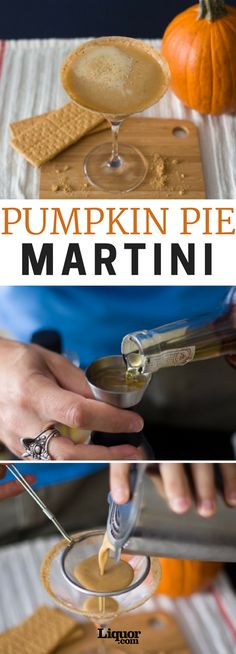 What's the one flavor that starts popping up everywhere this time of year? #Pumpkin . Not just pumpkin, but pumpkin spice. It's in everything. Drinks, desserts, pastries — you know, some of the best stuff in life. Here's the pumpkin pie martini! #pumpkinspice