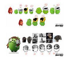 Character Designs de Luis Gadea para o filme Angry Birds   THECAB - The Concept Art Blog