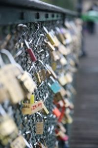 Paris Love locks - Wayne and I put our Love lock on there as well, a special moment xx