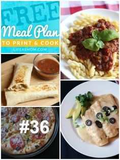 Weekly Meal Plan and Grocery List #36 | Life as MOM - a free meal plan with kid-friendly, budget-friendly recipes that build on each other so that you can save time and money.