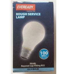 Heavy Duty #Eveready 100 Watt Pearl GLS #Lightbulbs Available at #ClearancekinguK at Very Low Prices.  Each light bulb is prepared with high grade glass thus providing extra safety. These pearl finish bulbs with bayonet cap fitting B22 are ideal for home and industrial use.