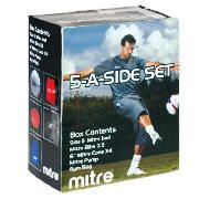 Mitre 5-A-Side Football Training Set This Mitre 5-A-Side Football Training Set is an ideal training accessory. Included in the set is a size 5 football, 5 bibs, 4 cones a pump and a gyym bag. http://www.comparestoreprices.co.uk/football-equipment/mitre-5-a-side-football-training-set.asp