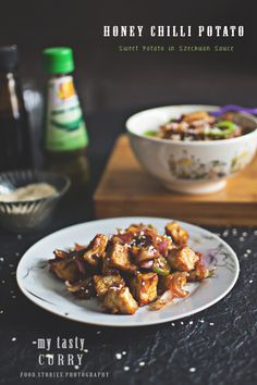 Honey Chilli Potato, Spicy Chilli Paneer and Chinjabi Food Vs Schezwan or Sichuan Cuisine - My Tasty Curry