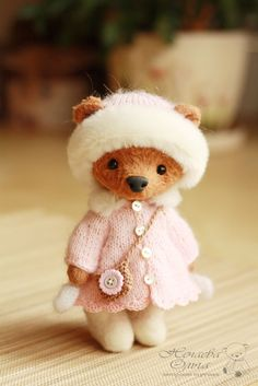 Teddy Bears handmade.  Fair Masters - handmade.  Buy My Maroussia .. Handmade.  Brown, a teddy bear as a gift, Mishutka by Olga Nechaev