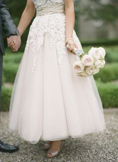 Blush Champagne David Fielden Wedding Dress