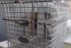 *Lot of 2* Vintage Kasper Wire Storage Baskets {Farmhouse Style}