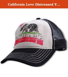 California Love Distressed Youth Pit Stop Twill Trucker Hat - Black. Style out your kids this summer with this awesome California Love Trucker Hat! All the other parents at the beach will envy your kids, and parenting skills when your little tykes roll up in our rockin' custom California Republic Clothes Original Cali Love Till Caps.