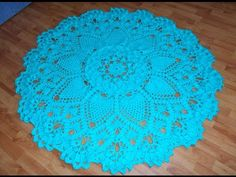 Crochet Doily Rug (Schematic & Video) – Page 3 Crochet Doily Rug, Crochet Cord, Crochet Carpet, Crochet Mandala Pattern, Crochet Tablecloth, Crochet Flower Patterns, Tapete Doily, Crochet Projects, Sewing Projects