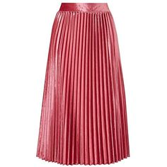 Soft stretch luxurious pleated velour skirt with elasticated waist. Wear with pumps or dress it up for a special occasion. A definite must-have for your wardro…