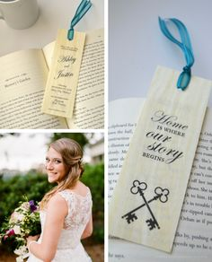 """Wood Bookmark Save the Dates """"Home is where our story begins"""" - Custom Designed by Greatest Story Weddings"""