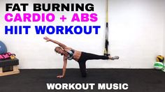 HIIT Cardio and Abs Workout, Fat Burning Cardio + Core HIIT Workout, Core (includes Falling Side Planks for obliques)