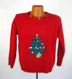 Ugly Christmas Sweater VintageTree Ho Made on Etsy