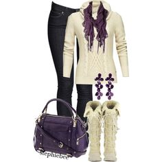 A fashion look from November 2012 featuring Mexx sweaters, Rebecca Minkoff handbags and Oscar de la Renta earrings. Browse and shop related looks.