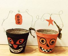 Halloween Paper Mache Candy Container by suchprettythings1