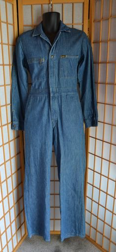 70s Lee Union Alls / coveralls jumpsuit mens size small by antique