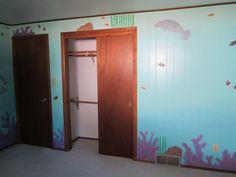 Ocean painted walls