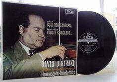 Bruch: Scottish Fantasia / Hindemith - Oistrakh **Decca SXL 6035 Wideband LP**