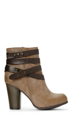 The perfect Fall staple, the Deluxx Bootie from Madden Girl, in the perfect taupe shade.