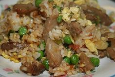 Deep South Dish: Step by Step Pork and Egg Fried Rice Ham Recipes, Asian Recipes, Dinner Recipes, Cooking Recipes, Ethnic Recipes, Free Recipes, Asian Foods, Seafood Recipes, Risotto