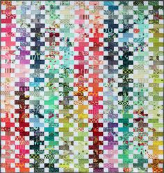 Zip It Patchwork quilt Pattern by Emma Jean Jansen- Creative Card Patc… Jellyroll Quilts, Scrappy Quilts, Easy Quilts, Patchwork Quilt Patterns, Quilt Patterns Free, Block Patterns, Sewing Patterns, Foto Transfer, Rainbow Quilt