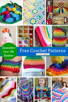 Free Crochet Patterns for Spring: Rainbows