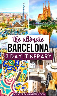 Looking for the perfect 3 Day Barcelona Itinerary? Well, this is it! You could easily spend weeks in Barcelona but 3 days in Barcelona is just enough time to get a flavor of what this city has to offer. This post will help you plan your trip to Barcelona | Barcelona things to do in | Barcelona aesthetic | Barcelona Spain | Barcelona Spain Photography | Barcelona photography | Barcelona soccer | Barcelona Spain aesthetic | Gaudi Barcelona | Sagrada Familia Barcelona | places to visit in Barcelona Barcelona Travel Guide, Spain Travel Guide, Europe Travel Tips, European Travel, Travel Destinations, Trips To Barcelona, Barcelona Things To Do In, Travel Hacks, Travel Guides