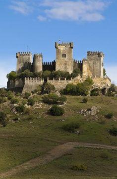 Castillo de Almodóvar del Río, Cordoba, Spain - grandiose caliphal fortress erected on a high mound along the Guadalquivir.