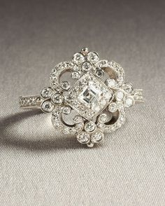 This vintage ring is to die for! I almost want it as ...
