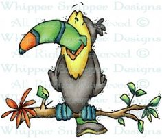 Toucan - Birds - Animals - Rubber Stamps - Shop