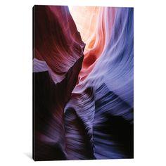 iCanvas Color Temperature I, The Corkscrew, Antelope Canyon, Navajo Nation, Arizona, USA by Matteo Colombo Canvas Print
