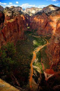 Canyon, Zion National Park, Utah photo via rita - Blue Pueblo