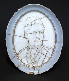 Ancestor, 2002. Caroline Slotte uses existing cracks in found ceramic objects to guide her in the composition of new creations