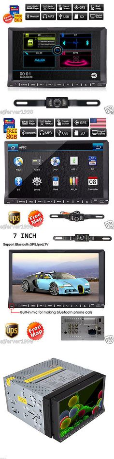 Vehicle Electronics And GPS: 7 Sd Touch Screen Double 2 Din Car Gps Navi Stereo Dvd Player Bluetooth Radio BUY IT NOW ONLY: $68.99