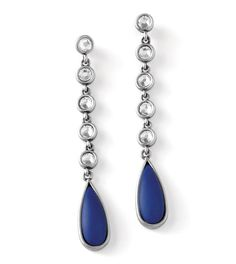 Cote d'Azur earrings (aka - Oceane) - $74 - genuine lapis with cut crystals