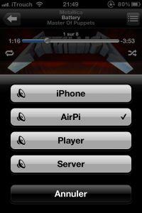 RaspberryPi as an Airplay device