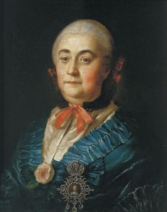 Portrait of the Lady in Waiting A.M.Izmaylova - Aleksey Antropov.   Completion Date: 1759