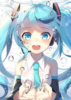alexmaster hatsune_miku headphones vocaloid