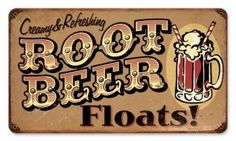 Tin rootbeer sign