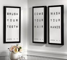 Bathroom Sign Framed Prints #potterybarn